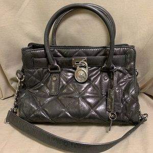 Michael Kors Quilted Leather Hamilton Satchel